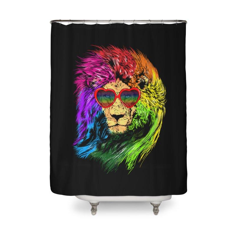 Pride Lion Home Shower Curtain by kooky love's Artist Shop
