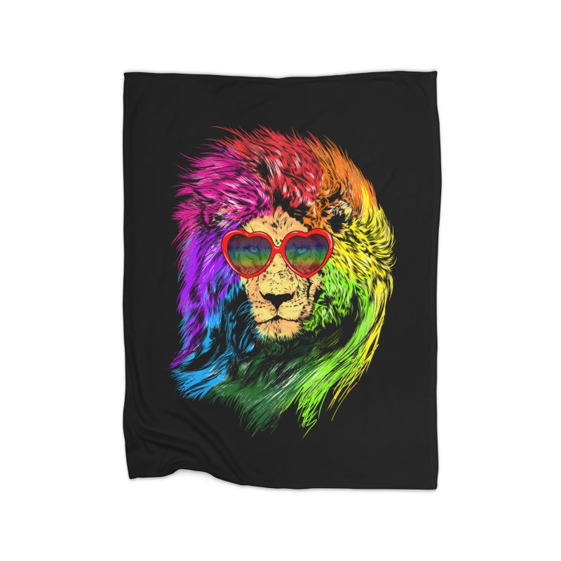 Pride Lion Home Fleece Blanket Blanket by kooky love's Artist Shop