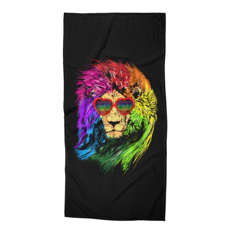 Pride Lion Accessories Beach Towel by kooky love's Artist Shop