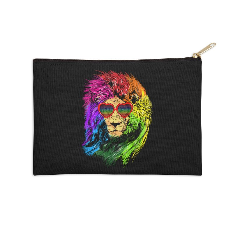 Pride Lion Accessories Zip Pouch by kooky love's Artist Shop