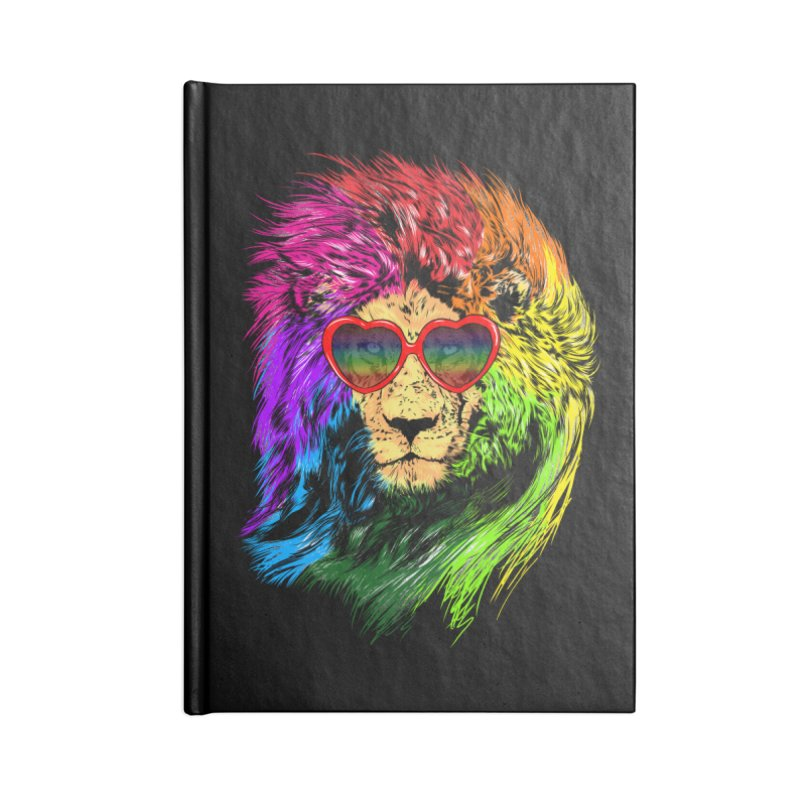 Pride Lion Accessories Lined Journal Notebook by kooky love's Artist Shop