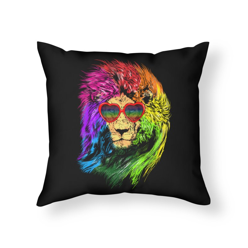 Pride Lion Home Throw Pillow by kooky love's Artist Shop
