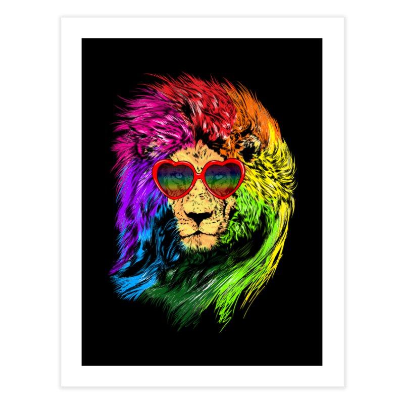 Pride Lion Home Fine Art Print by kooky love's Artist Shop