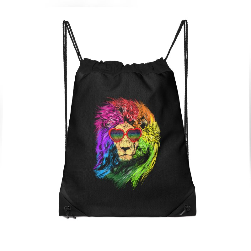 Pride Lion Accessories Drawstring Bag Bag by kooky love's Artist Shop