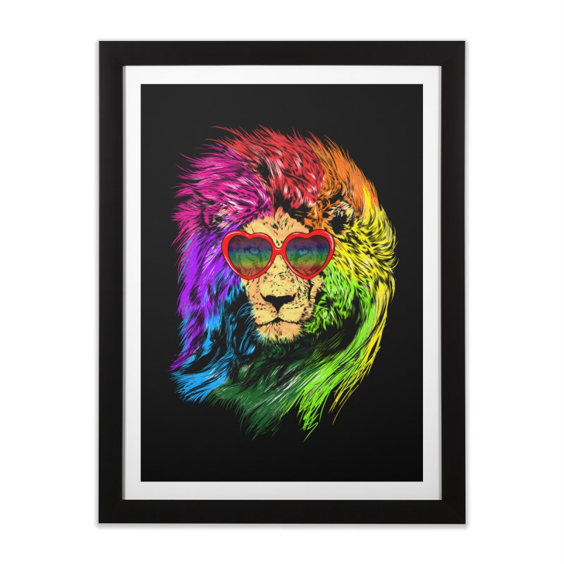 Pride Lion Home Framed Fine Art Print by kooky love's Artist Shop