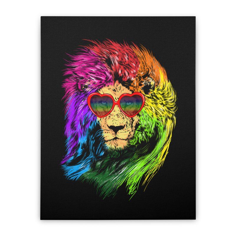 Pride Lion Home Stretched Canvas by kooky love's Artist Shop