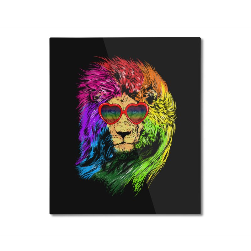 Pride Lion Home Mounted Aluminum Print by kooky love's Artist Shop