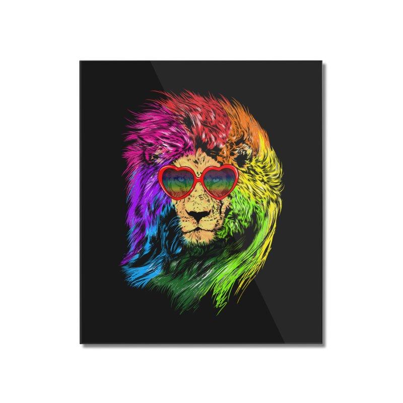 Pride Lion Home Mounted Acrylic Print by kooky love's Artist Shop
