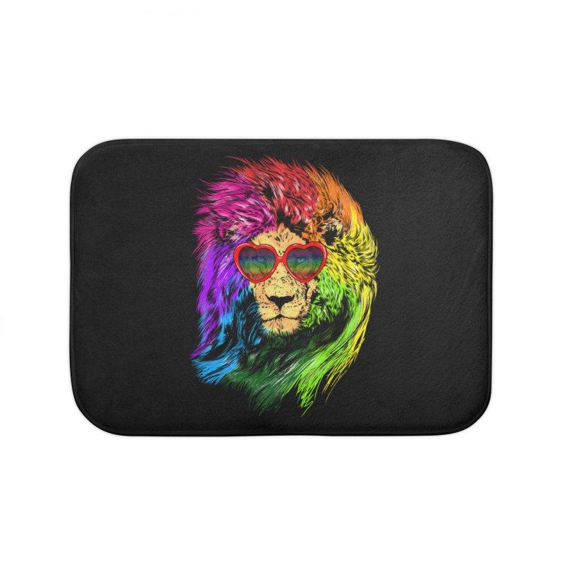 Pride Lion Home Bath Mat by kooky love's Artist Shop