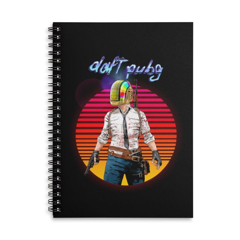 Daft Pubg Accessories Lined Spiral Notebook by kooky love's Artist Shop