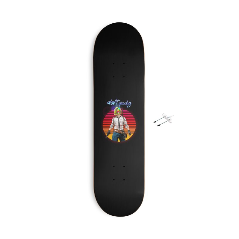Daft Pubg Accessories With Hanging Hardware Skateboard by kooky love's Artist Shop