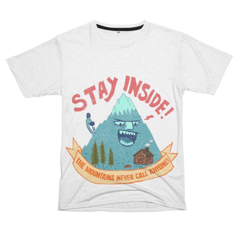 STAY INSIDE! Men's French Terry T-Shirt Cut & Sew by kooky love's Artist Shop