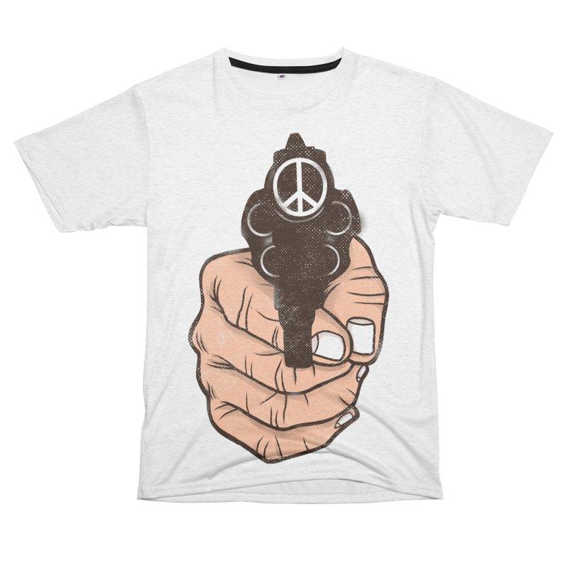 War is peace Men's French Terry T-Shirt Cut & Sew by kooky love's Artist Shop