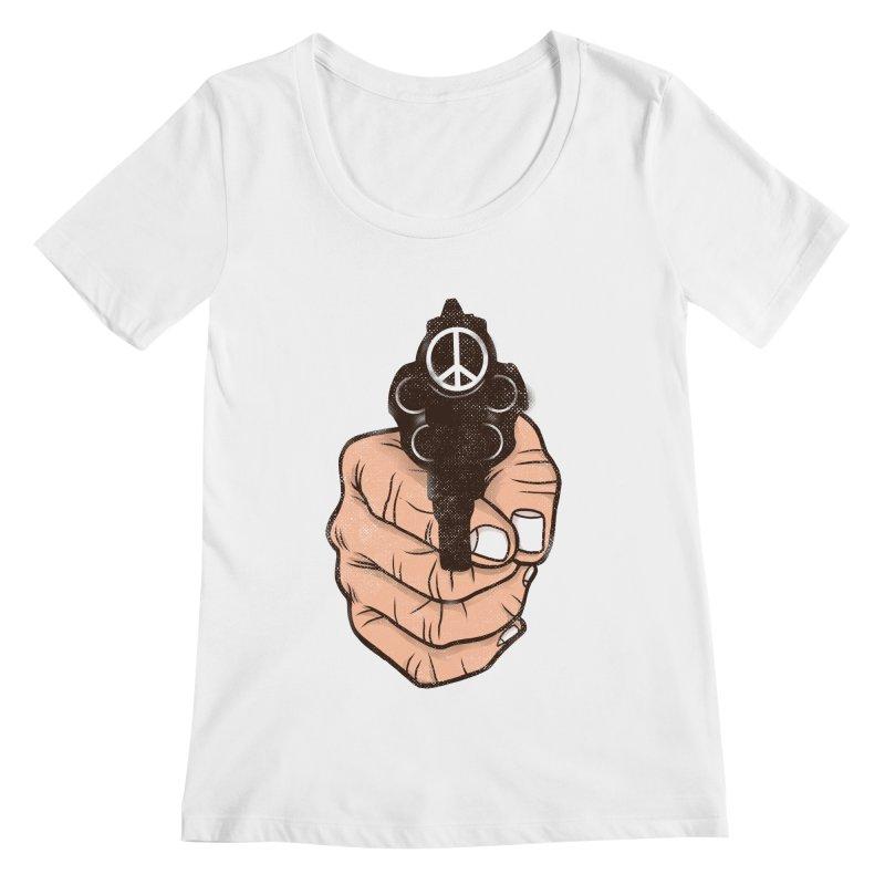 War is peace Women's Regular Scoop Neck by kooky love's Artist Shop