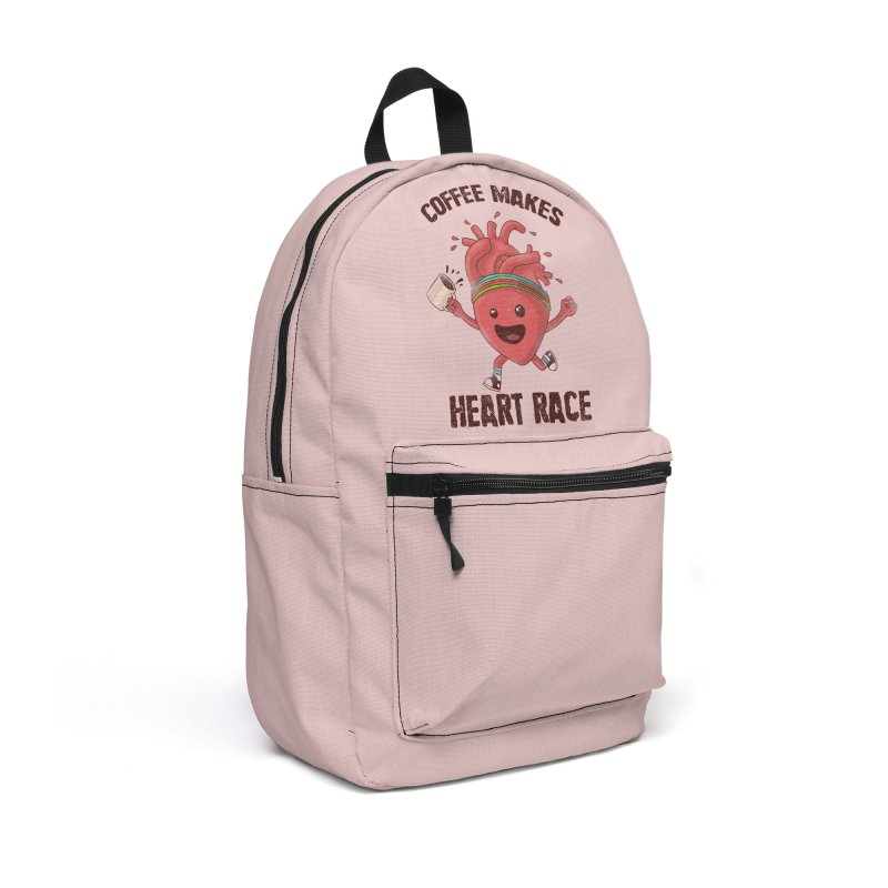 Heart Race Accessories Backpack Bag by kooky love's Artist Shop