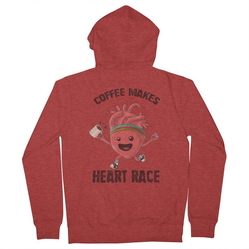 Heart Race Men's French Terry Zip-Up Hoody by kooky love's Artist Shop