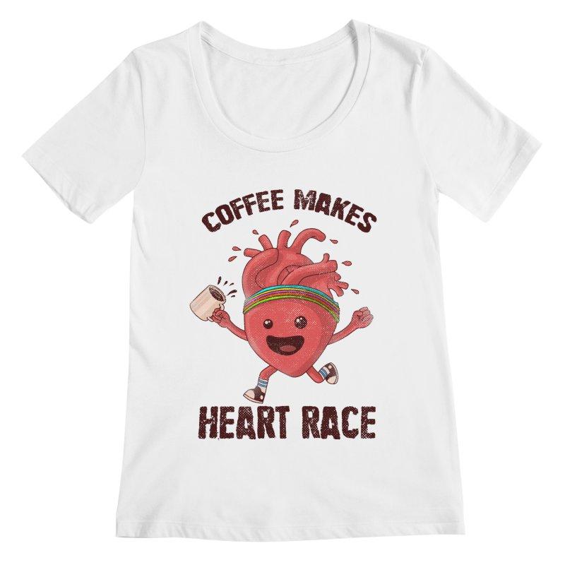 Heart Race Women's Regular Scoop Neck by kooky love's Artist Shop