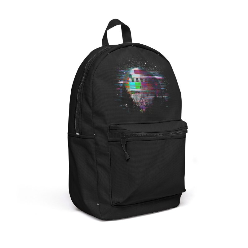 The moon glitches Accessories Backpack Bag by kooky love's Artist Shop