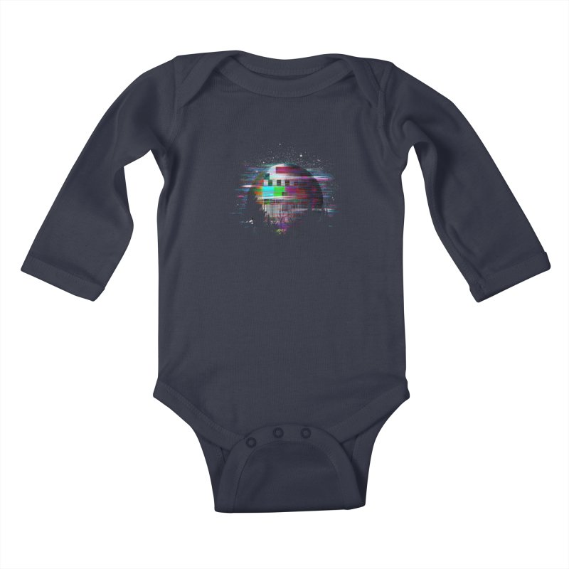 The moon glitches Kids Baby Longsleeve Bodysuit by kooky love's Artist Shop