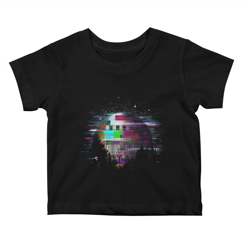 The moon glitches Kids Baby T-Shirt by kooky love's Artist Shop