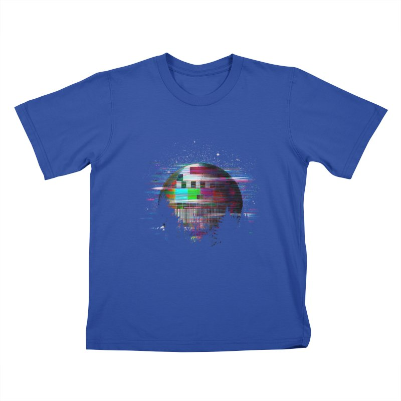 The moon glitches Kids T-Shirt by kooky love's Artist Shop