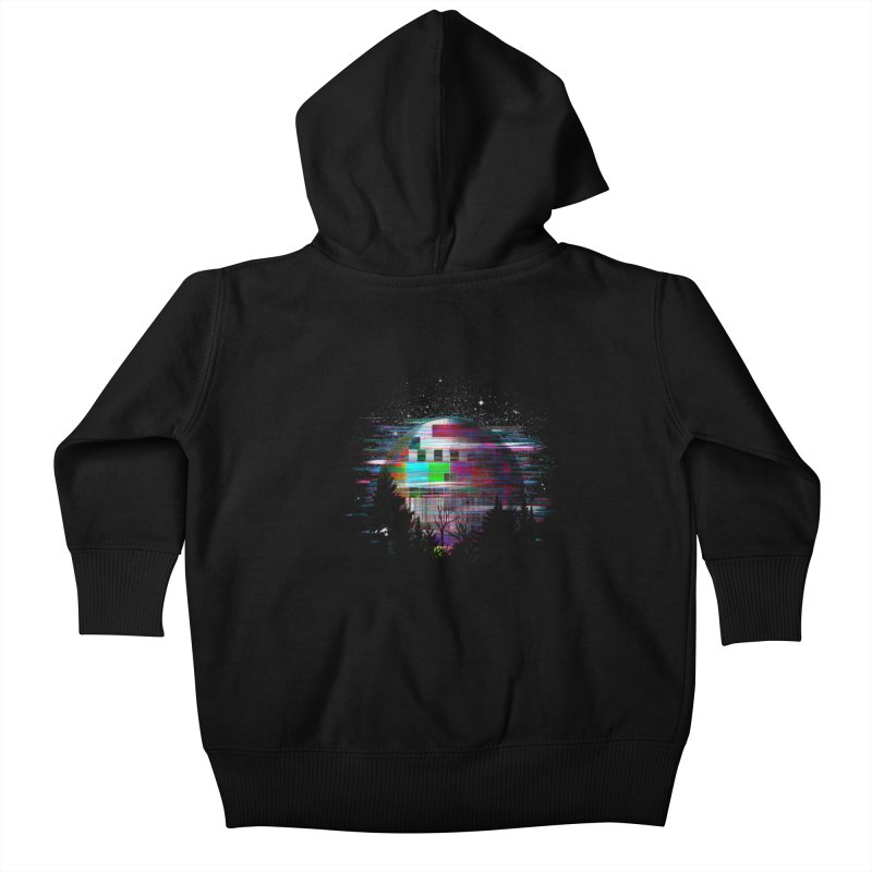 The moon glitches Kids Baby Zip-Up Hoody by kooky love's Artist Shop