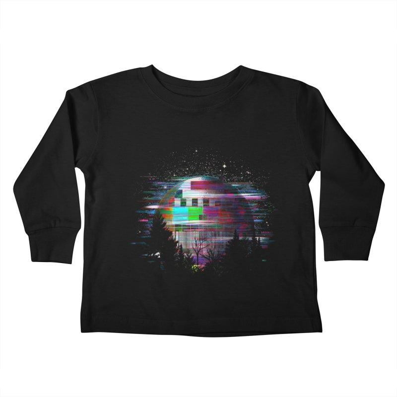 The moon glitches Kids Toddler Longsleeve T-Shirt by kooky love's Artist Shop