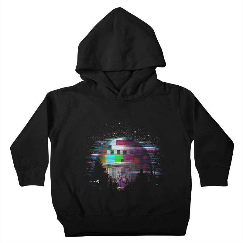 The moon glitches Kids Toddler Pullover Hoody by kooky love's Artist Shop