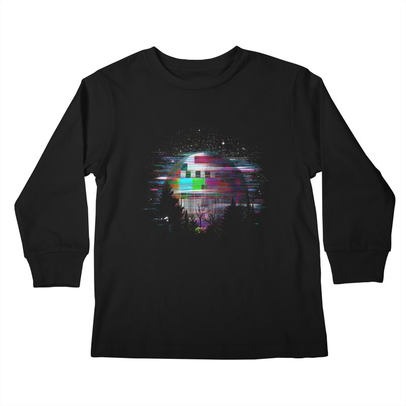 The moon glitches Kids Longsleeve T-Shirt by kooky love's Artist Shop
