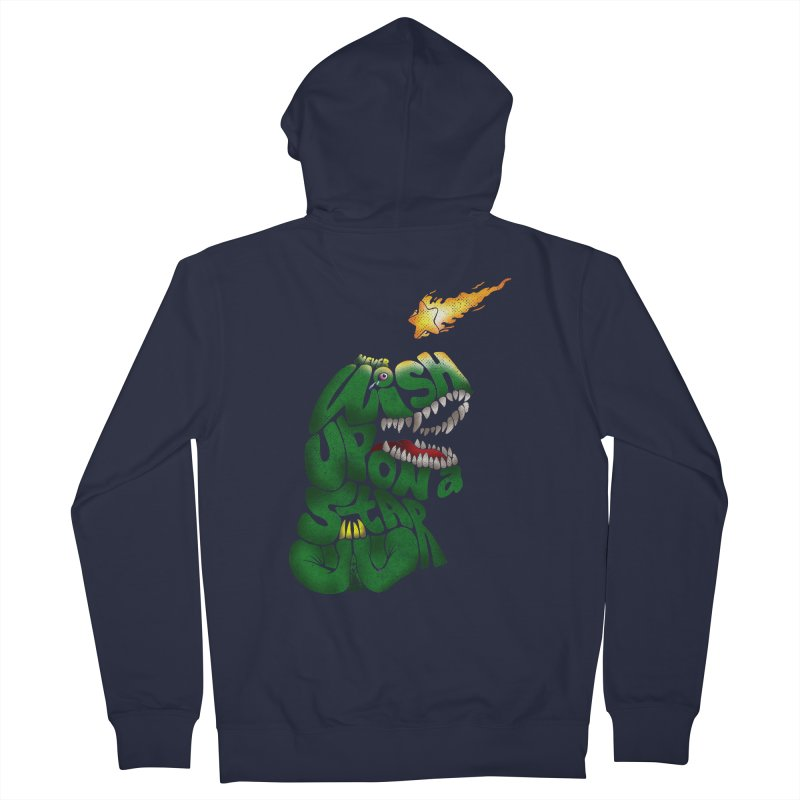 Wish upon a star Men's French Terry Zip-Up Hoody by kooky love's Artist Shop