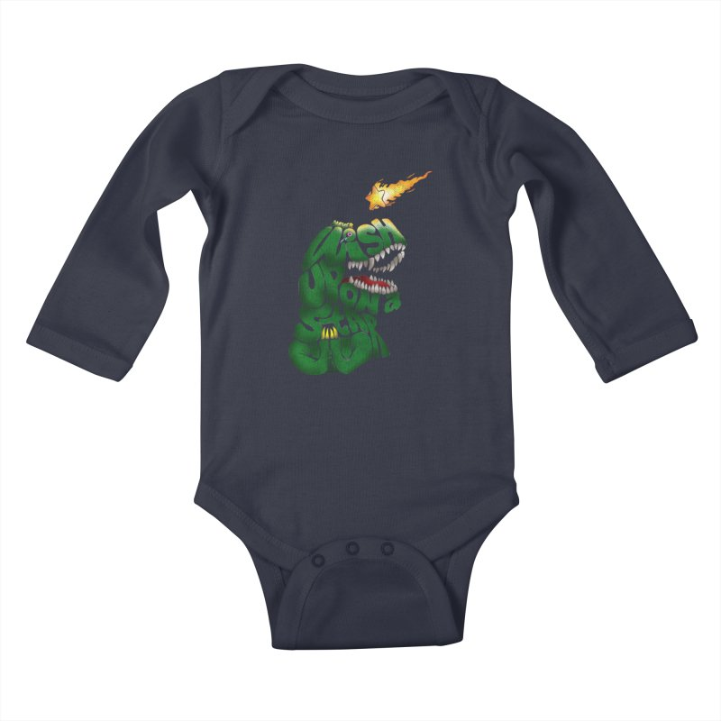 Wish upon a star Kids Baby Longsleeve Bodysuit by kooky love's Artist Shop