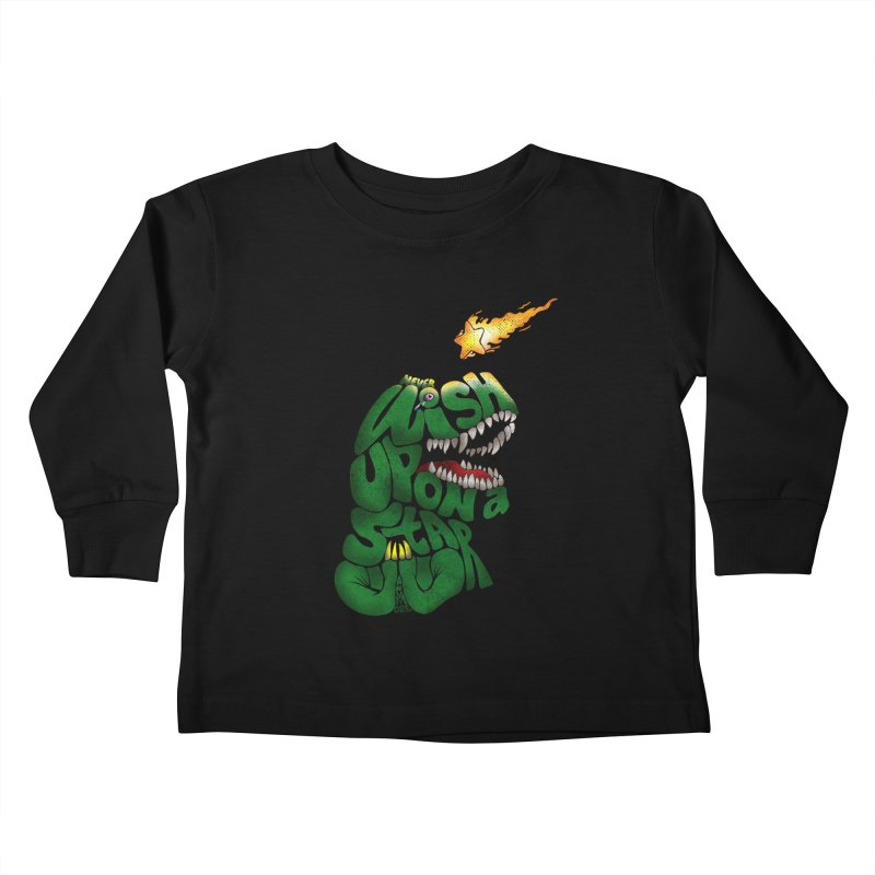 Wish upon a star Kids Toddler Longsleeve T-Shirt by kooky love's Artist Shop