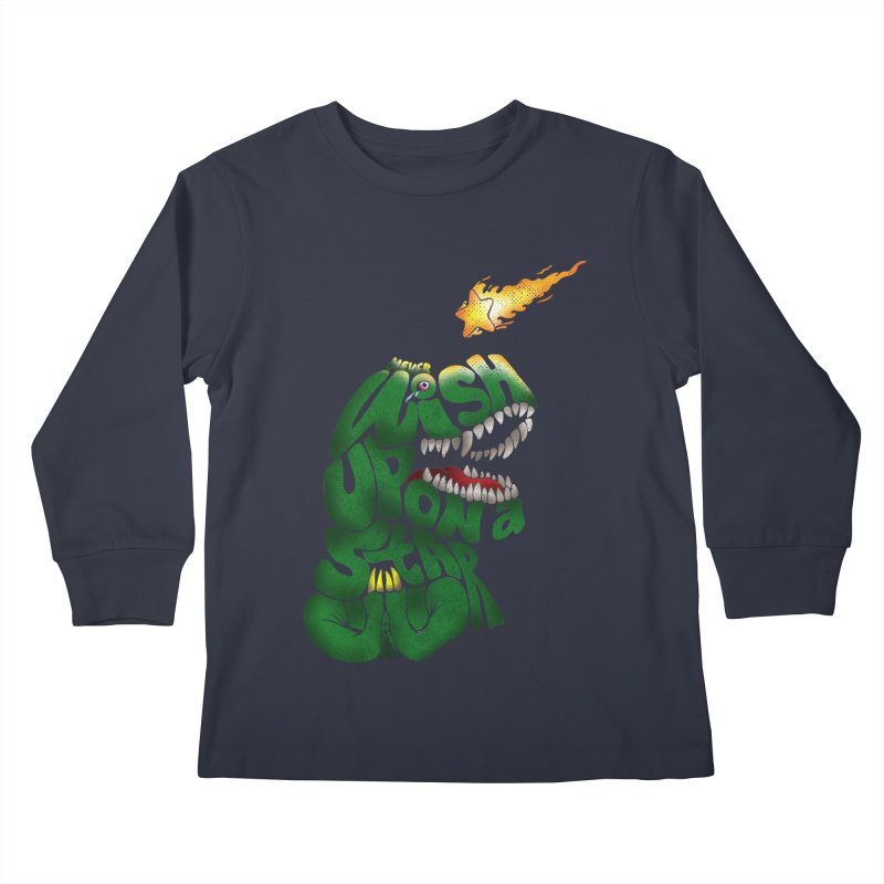 Wish upon a star Kids Longsleeve T-Shirt by kooky love's Artist Shop