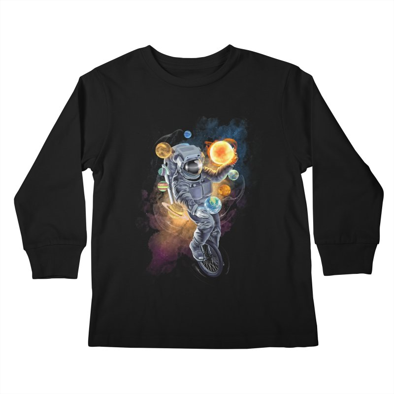 Jugglernaut Kids Longsleeve T-Shirt by kooky love's Artist Shop