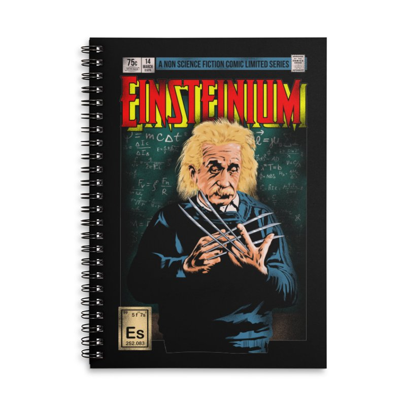 Einsteinium Accessories Lined Spiral Notebook by kooky love's Artist Shop