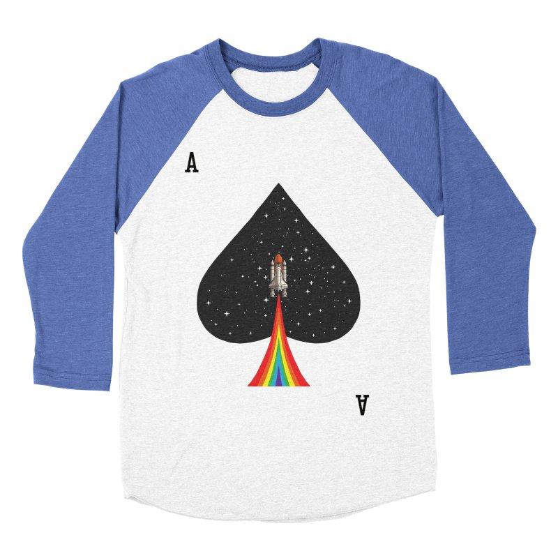 Sp(ace) Men's Baseball Triblend Longsleeve T-Shirt by kooky love's Artist Shop
