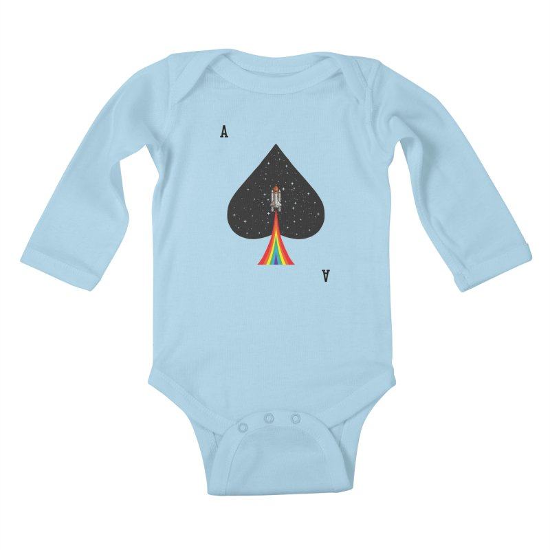 Sp(ace) Kids Baby Longsleeve Bodysuit by kooky love's Artist Shop