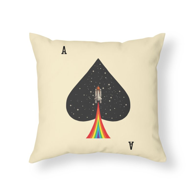 Sp(ace) Home Throw Pillow by kooky love's Artist Shop