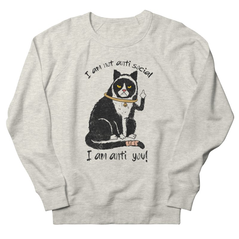 Anti you Men's French Terry Sweatshirt by kooky love's Artist Shop