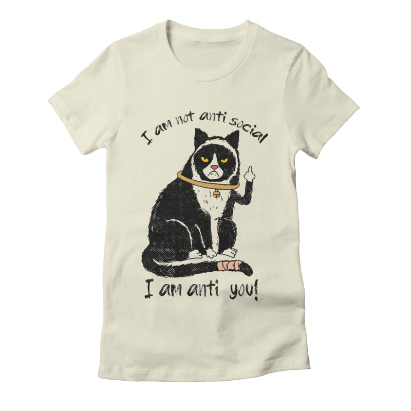 Anti you Women's Fitted T-Shirt by kooky love's Artist Shop