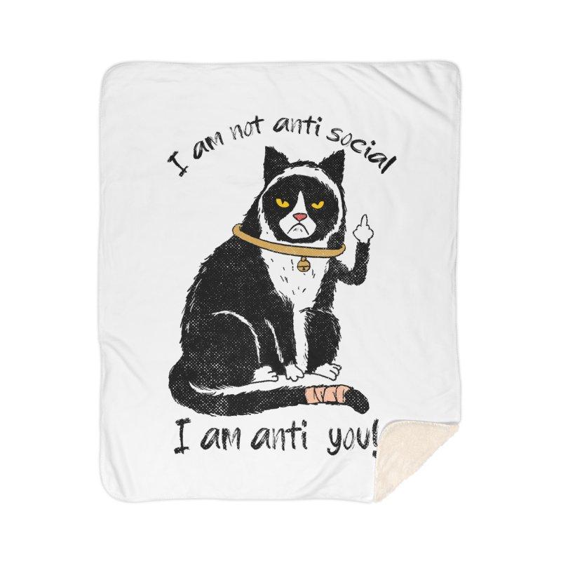 Anti you Home Sherpa Blanket Blanket by kooky love's Artist Shop