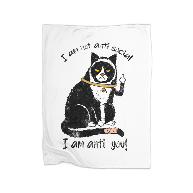 Anti you Home Fleece Blanket Blanket by kooky love's Artist Shop