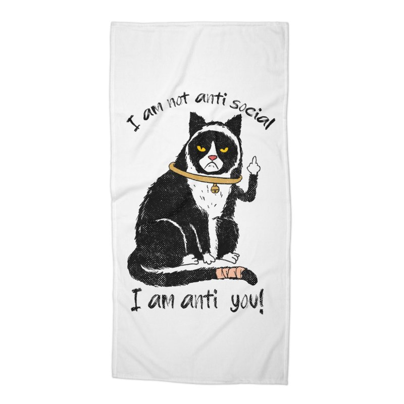 Anti you Accessories Beach Towel by kooky love's Artist Shop
