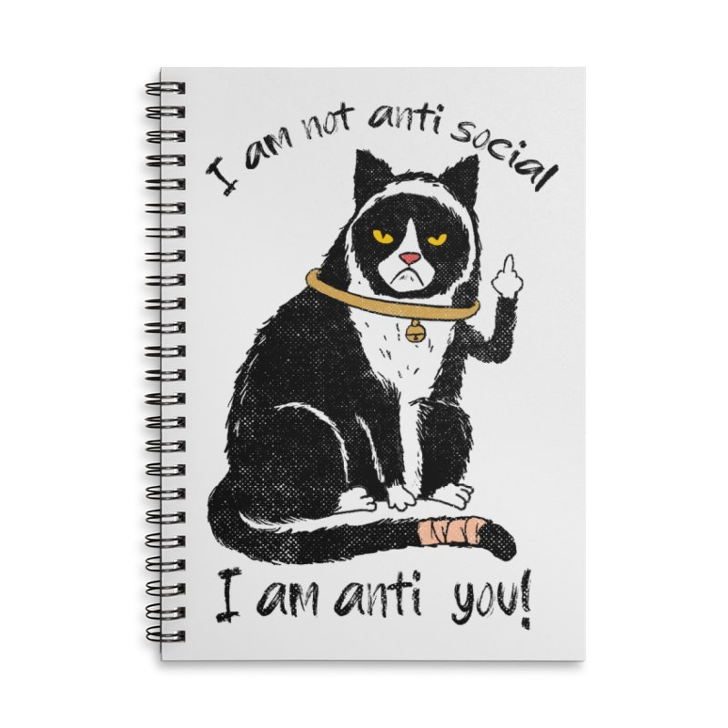 Anti you Accessories Lined Spiral Notebook by kooky love's Artist Shop