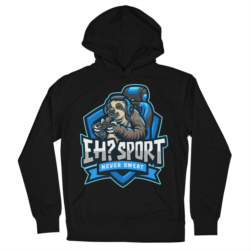 EH? SPORT Men's French Terry Pullover Hoody by kooky love's Artist Shop
