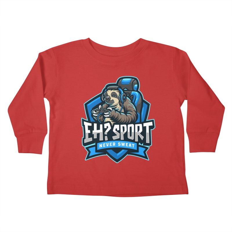 EH? SPORT Kids Toddler Longsleeve T-Shirt by kooky love's Artist Shop