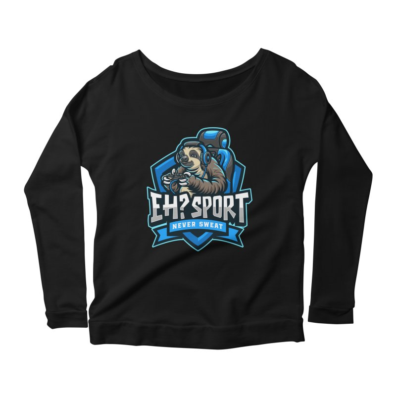 EH? SPORT Women's Scoop Neck Longsleeve T-Shirt by kooky love's Artist Shop