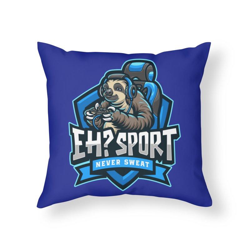 EH? SPORT Home Throw Pillow by kooky love's Artist Shop