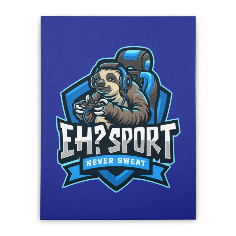 EH? SPORT Home Stretched Canvas by kooky love's Artist Shop