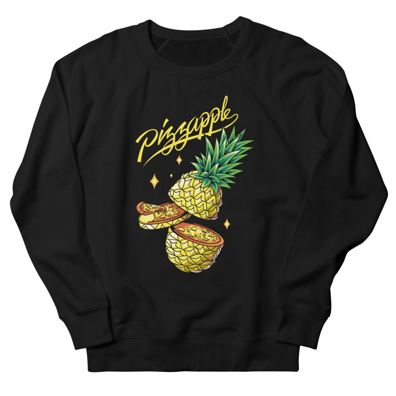 Pizzapple Men's French Terry Sweatshirt by kooky love's Artist Shop